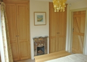 Oak walk in wardrobes