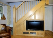 Oak Media Cabinet and Oak Stairs