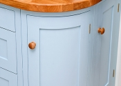 Curved kitchen unit.