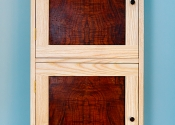 Ash and Figured Walnut Bathroom Cabinet
