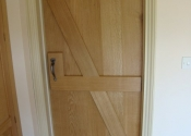 Oak Ledge and Brace Door